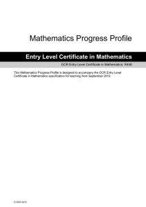 Mathematics progress profile (DOC, 216KB)
