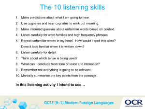 Listening skills and self-assessment (PPT, 1MB)