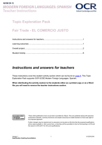 Fair trade - Topic exploration pack (DOC, 924KB) New 30/03/2016