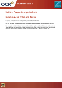 Unit 04 - Matching job titles and tasks - Lesson element - Teacher instructions (DOC, 227KB) New