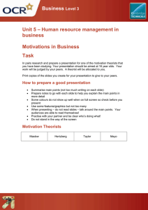 Business – Human resource management in Unit 5 business