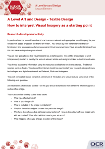 How to interpret visual imagery as a starting point - Activity - Lesson element (DOC, 278KB)