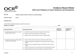 Level 4 - Unit 14 - Evidence record sheet (DOC, 117KB)