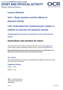 Unit 01 - Lesson element - Cardiovascular system (DOC, 800KB) 29/02/2016