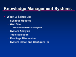 Knowledge Management and Technology