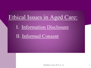 ethical issues in aged care