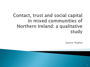 Contact, Trust and Social Capital in Mixed Communities of Northern Ireland: A Qualitative Study