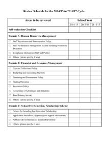 Review Schedule for the 2014-16 Cycle
