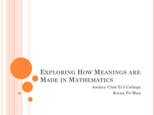 Exploring How Meanings are Made in Mathematics: Unpacking Information
