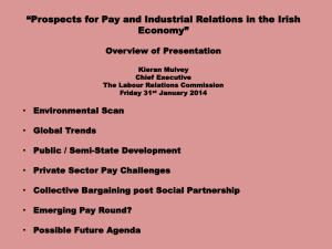 """Prospects for Pay and Industrial Relations in the Irish Economy"""