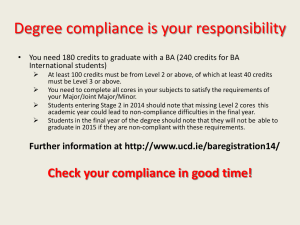 Degree compliance is your responsibility International students)