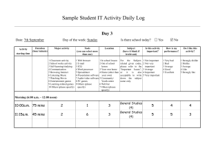 Sample Student IT Activity Daily Log Day 3 Date: 7th September