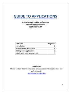 Guide to Applications (opens in a new window)