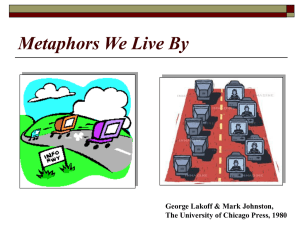 Metaphors We Live By George Lakoff & Mark Johnston,