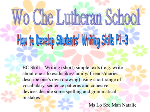 BC Skill – Writing (short) simple texts ( e.g. write