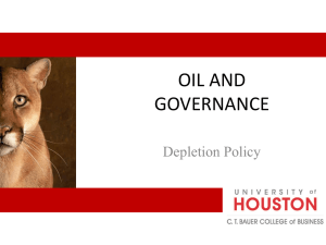 Oil and Governance - Depletion Policy