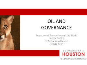 Oil and Governance –NOCs