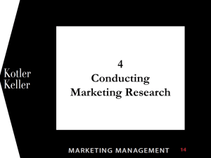 1 4 Conducting Marketing Research