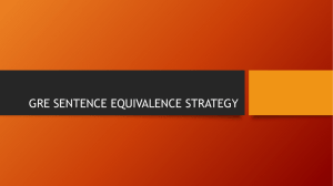 GRE Qualitative Sentence Equivalence Strategy
