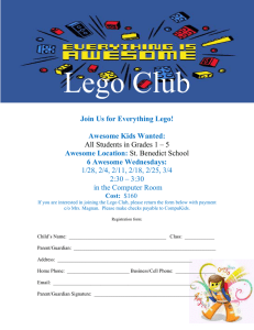 Lego Club Enrollment