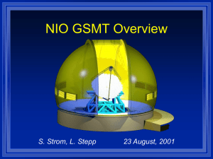 NIO GSMT Overview, Carnegie Meeting