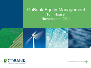 Houser.CoBank Equity Management - U of W November 2011