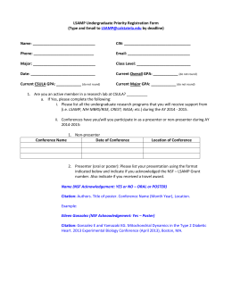 Early Registration Form