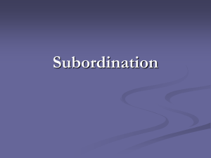 Subordination Slides