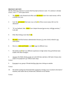 Pronoun Practice Answers
