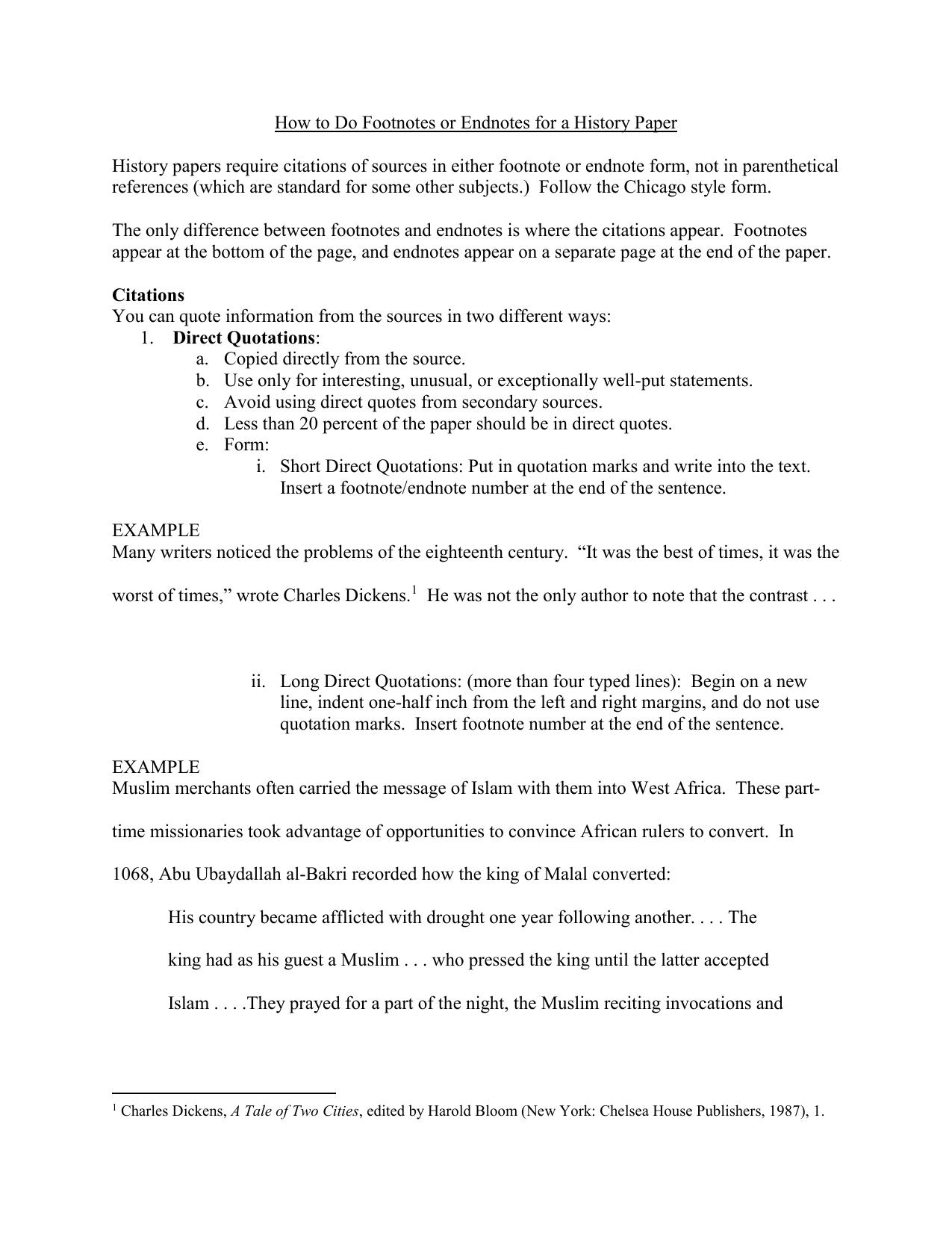 Do endnotes essay