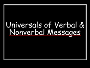 Chapter 5 Verbal Messages