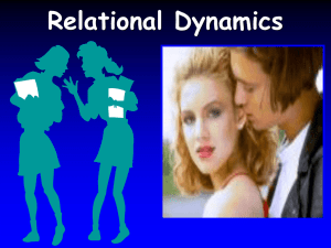 Chapter 8 Relational Dynamics