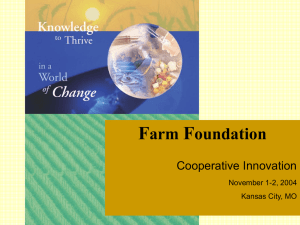 F arm oundation Cooperative Innovation
