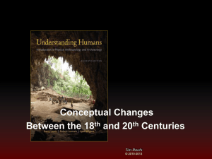 Conceptual Changes Between the 18 and 20 Centuries