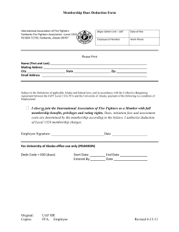 Membership Dues Deduction Form  Please Print Name (First and Last)