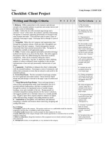 Writing and Design Criteria