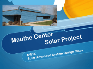 Mauthe Center Solar Project: PowerPoint