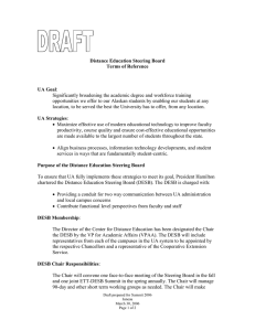 Draft DESB Terms of Reference