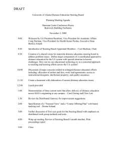 Agenda for the November 2, 2004 Meeting