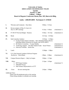 October 5, 2007 Meeting Agenda