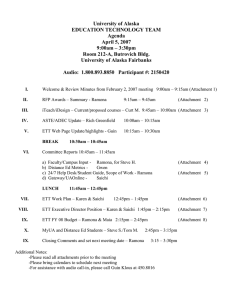 April 5, 2007 Meeting Agenda