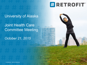 University of Alaska Joint Health Care Committee Meeting October 21, 2015
