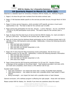 UA Quarterly Report to March 31, 2010 (Q3)