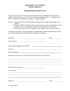 (4) Wellness Initiatives - Funding Request form and Ideas-1