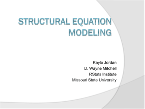 RStats Structural Equation Modeling PowerPoint