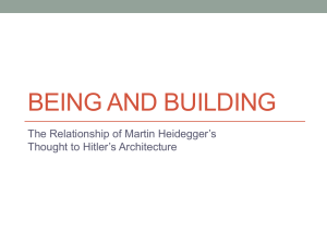 Being and Building:
