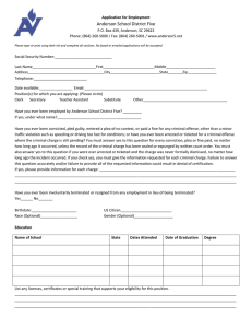 Support Staff Application