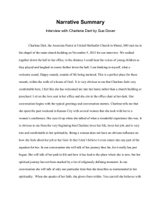 Narrative Summary Interview with Charlene Dart by Sue Dover