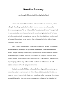 Narrative Summary Interview with Elizabeth Weiner by Katie Norris