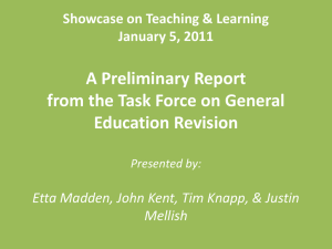 GenEd Revision Showcase Jan2011
